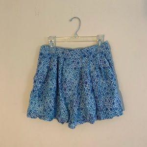 Bethany Mota floral wide leg shorts